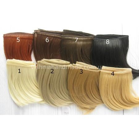 Волосы трессы для кукол каре, 10 см, выбор цвета