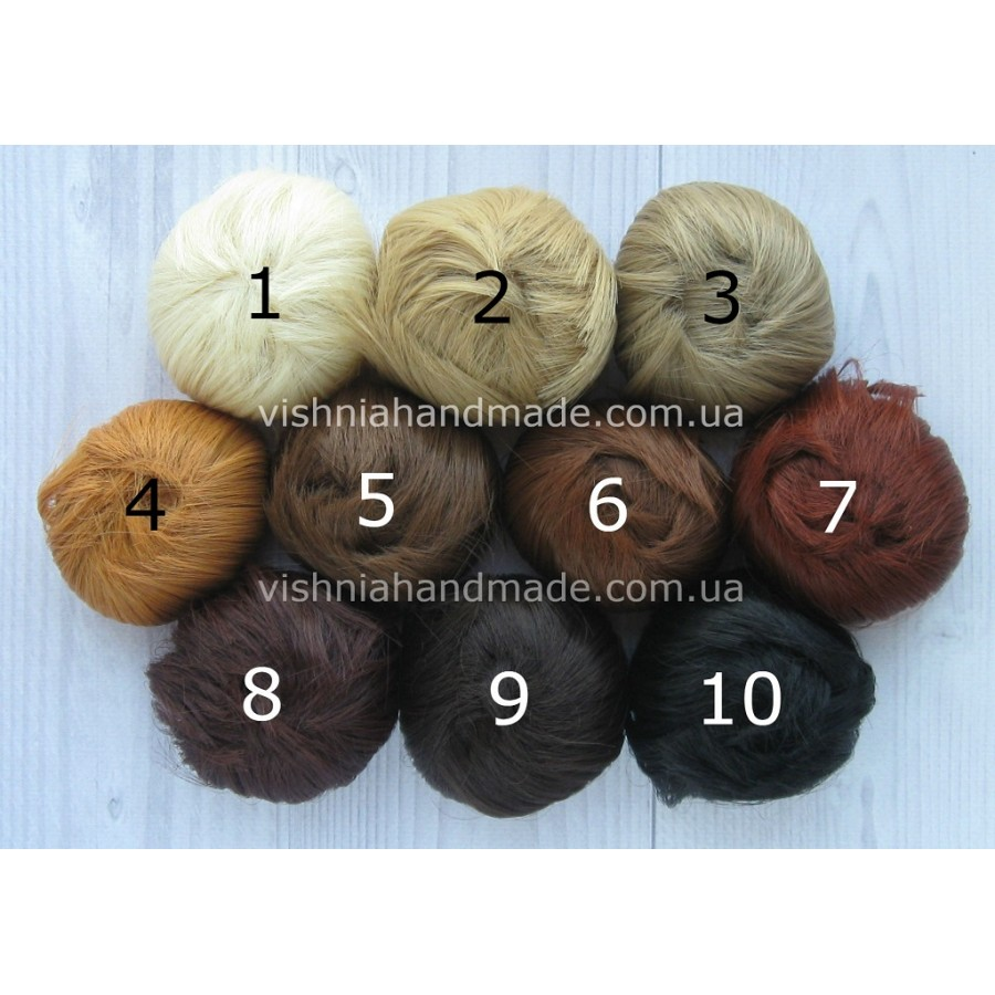 Волосы трессы для кукол прямые, 5 см, выбор цвета