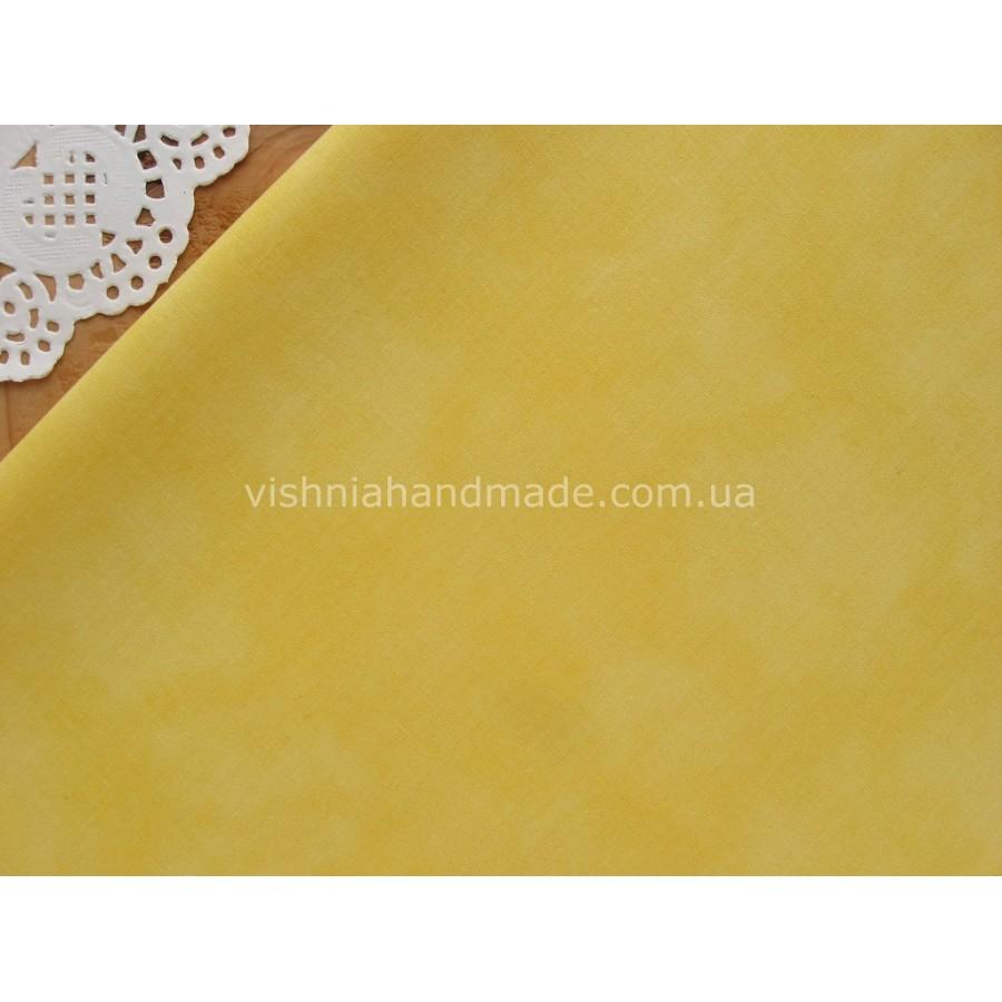 Отрез желтого германского хлопка для рукоделия, 30*36 см
