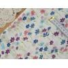 """Китайский сатин """"Сиреневые, синие, розовые ромашки на кремовом"""", 25*40 см"""