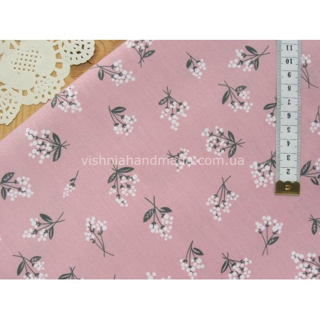 "Китайский сатин ""Букетики на розовом"", 25*40 см"