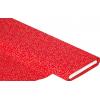 """Отрез новогоднего хлопка для рукоделия с глиттером """"Золотые завитки на красном"""", 25*36 см"""