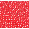 """Отрез новогоднего хлопка для рукоделия """"Белые звездочки на красном"""", 25*36 см"""