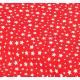 """Отрез немецкого новогоднего хлопка для рукоделия """"Густые звездочки на красном"""", 25*36 см"""