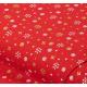 """Отрез немецкого новогоднего хлопка для рукоделия с глиттером """"Золотые снежинки на красном"""", 25*36 см"""