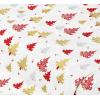 """Отрез немецкого новогоднего хлопка для рукоделия с глиттером """"Золотые елочки на белом"""", 25*36 см"""