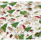 """Отрез немецкого новогоднего хлопка для рукоделия """"Снеговики на белом"""", 25*36 см"""