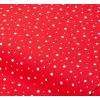 """Отрез немецкого новогоднего хлопка для рукоделия """"Белый горох на красном"""", 25*36 см"""