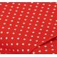 """Отрез немецкого новогоднего хлопка для рукоделия """"Звездочки на красном"""", 25*36 см"""