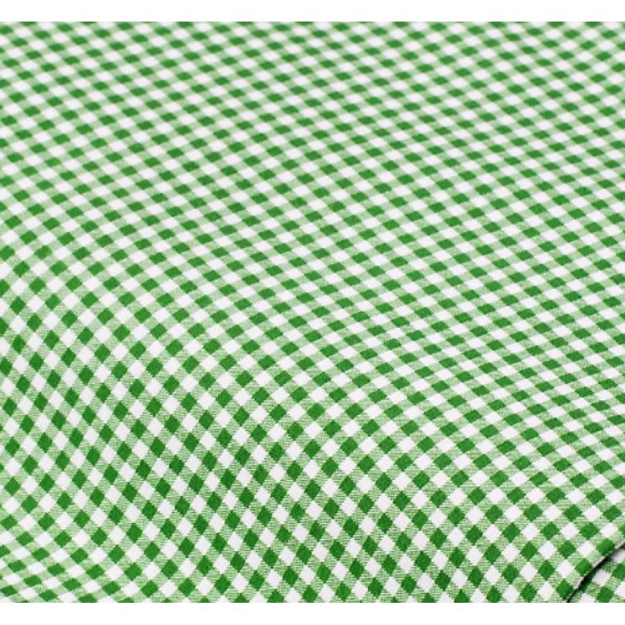 """Отрез немецкого новогоднего хлопка для рукоделия """"Зеленая клетка"""", 25*36 см"""