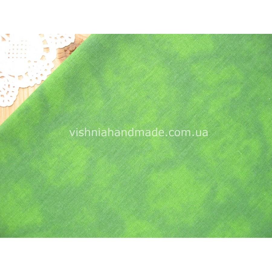 Отрез зеленого германского хлопка для рукоделия, 30*36 см