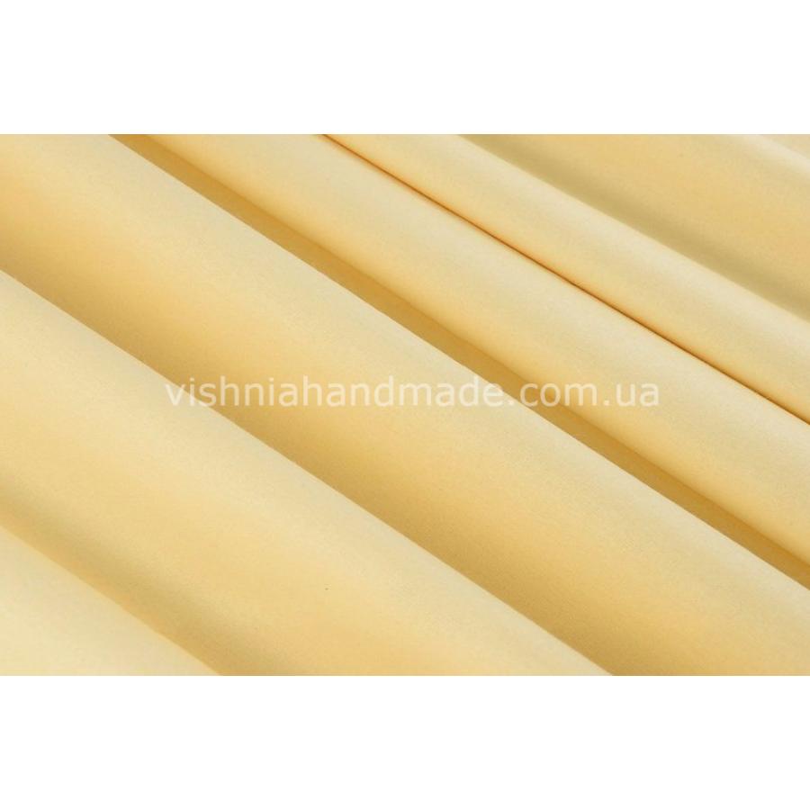 Светло желтый однотонный хлопок 40*50 см
