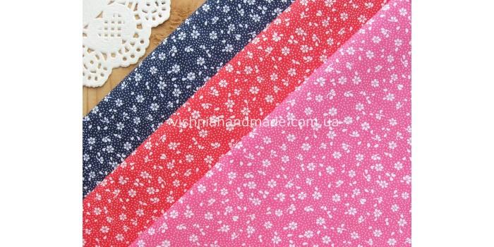 Ткани для рукоделия с цветочным рисунком (13)