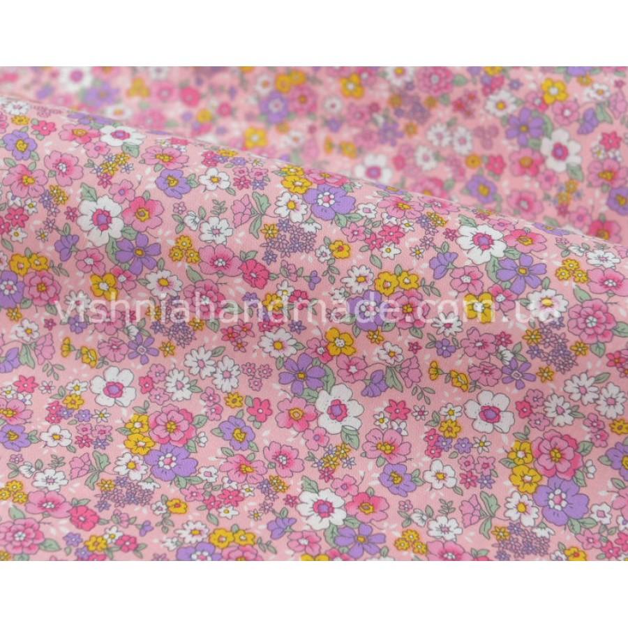 """Отрез поплина для кукольной одежды """"Яркие цветочки на розовом"""", 50*36 см"""