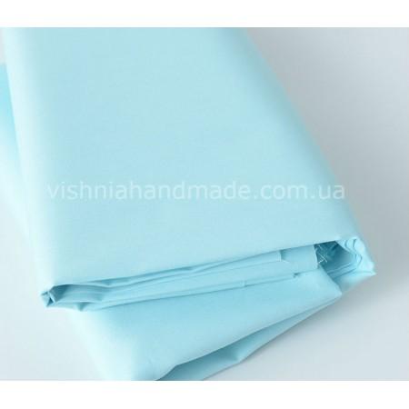 Отрез поплина голубая мята для кукольной одежды, 50*36 см