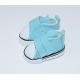 Нежно бирюзовые кеды для кукол на липучках, 5 см