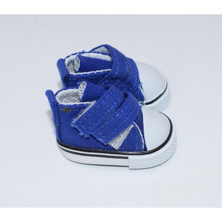 Синие кеды для кукол на липучках, 5 см