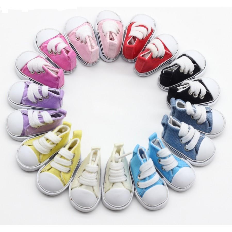 Кеды для кукол со шнурками 5 см, выбор цвета