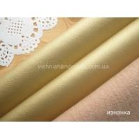 Золотой кожзам для кукольной обуви, 20*28 см