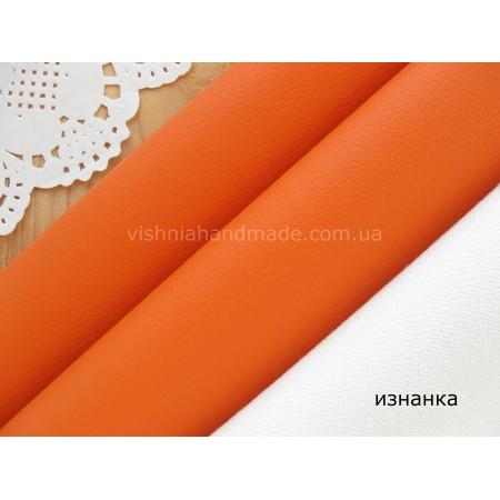 Оранжевый кожзам для кукольной обуви, 20*28 см