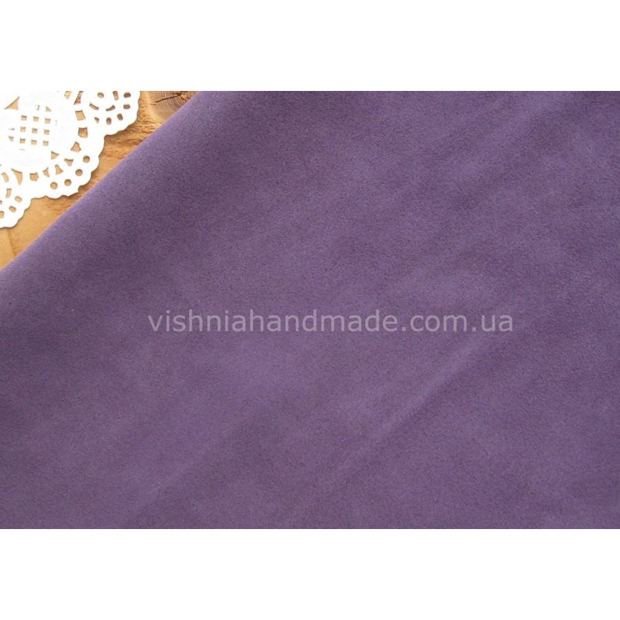 Фиолетовая натуральная кожа велюр для кукольной обуви