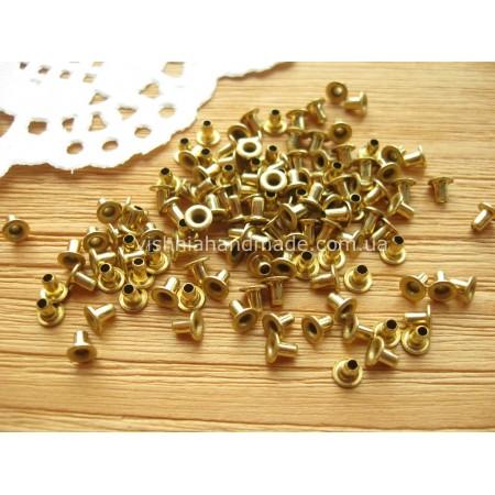 Золотые микро люверсы для кукол, 1,5 мм, 1 шт
