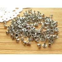 Серебряные микро люверсы для кукол, 1,5 мм, 1 шт