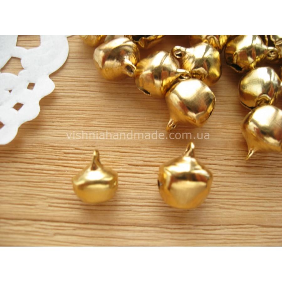 Золотой колокольчик-погремушка 1 шт, выбор размера