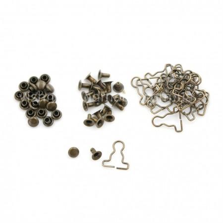 Пряжка для кукольных комбинезонов, бронзовая 10 мм, пара (2 шт)