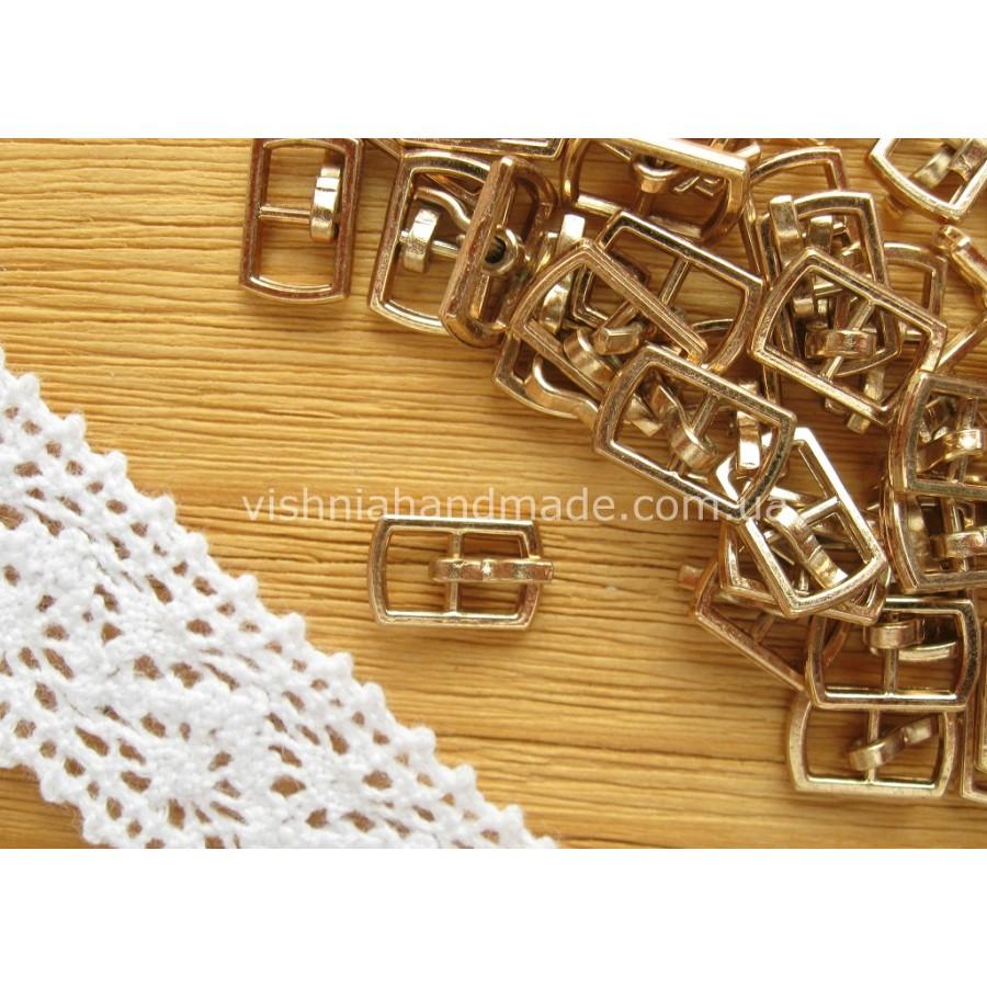 Золотая прямоугольная мини пряжка для кукольной одежды и обуви, 10*6 мм