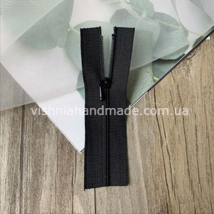Черная не разъемная микро молния для кукольной одежды, 8 см