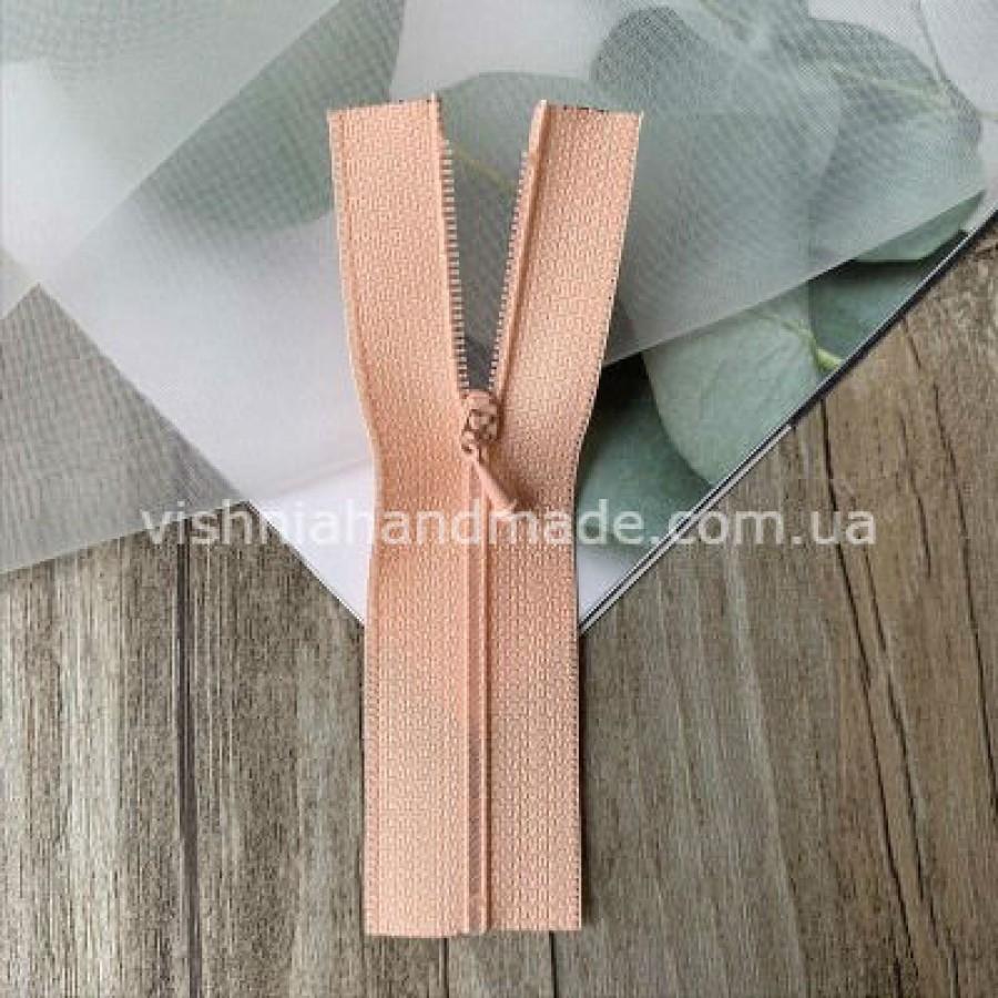 Персиковая не разъемная микро молния для кукольной одежды, 8 см