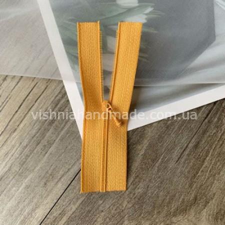 Оранжевая не разъемная микро молния для кукольной одежды, 8 см