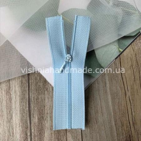 Голубая не разъемная микро молния для кукольной одежды, 8 см