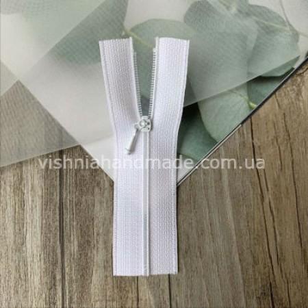 Белая не разъемная микро молния для кукольной одежды, 8 см