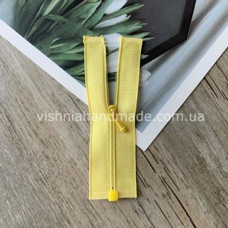 Жёлтая РАЗЪЕМНАЯ микро молния для кукольной одежды, 8 см