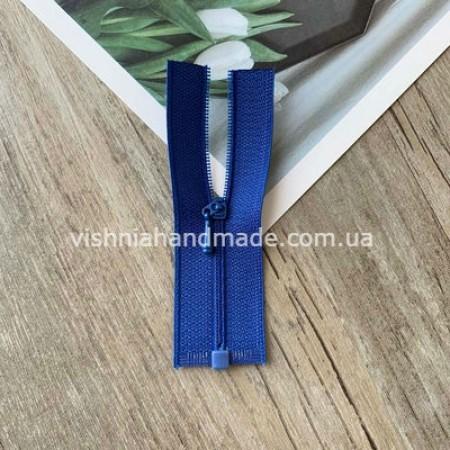 Синяя РАЗЪЕМНАЯ микро молния для кукольной одежды, 8 см