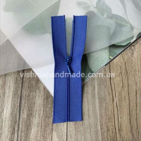 Синяя не разъемная микро молния для кукольной одежды, 8 см
