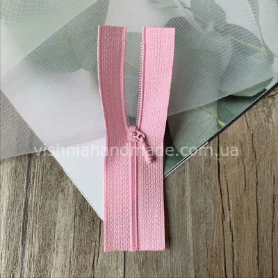 Розовая не разъемная микро молния для кукольной одежды, 8 см