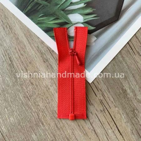 Красная РАЗЪЕМНАЯ микро молния для кукольной одежды, 8 см