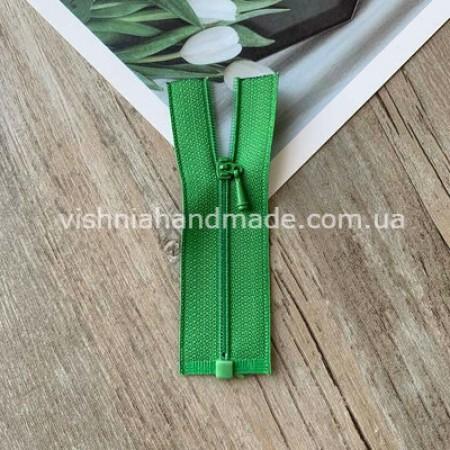 Зеленая РАЗЪЕМНАЯ микро молния для кукольной одежды, 8 см