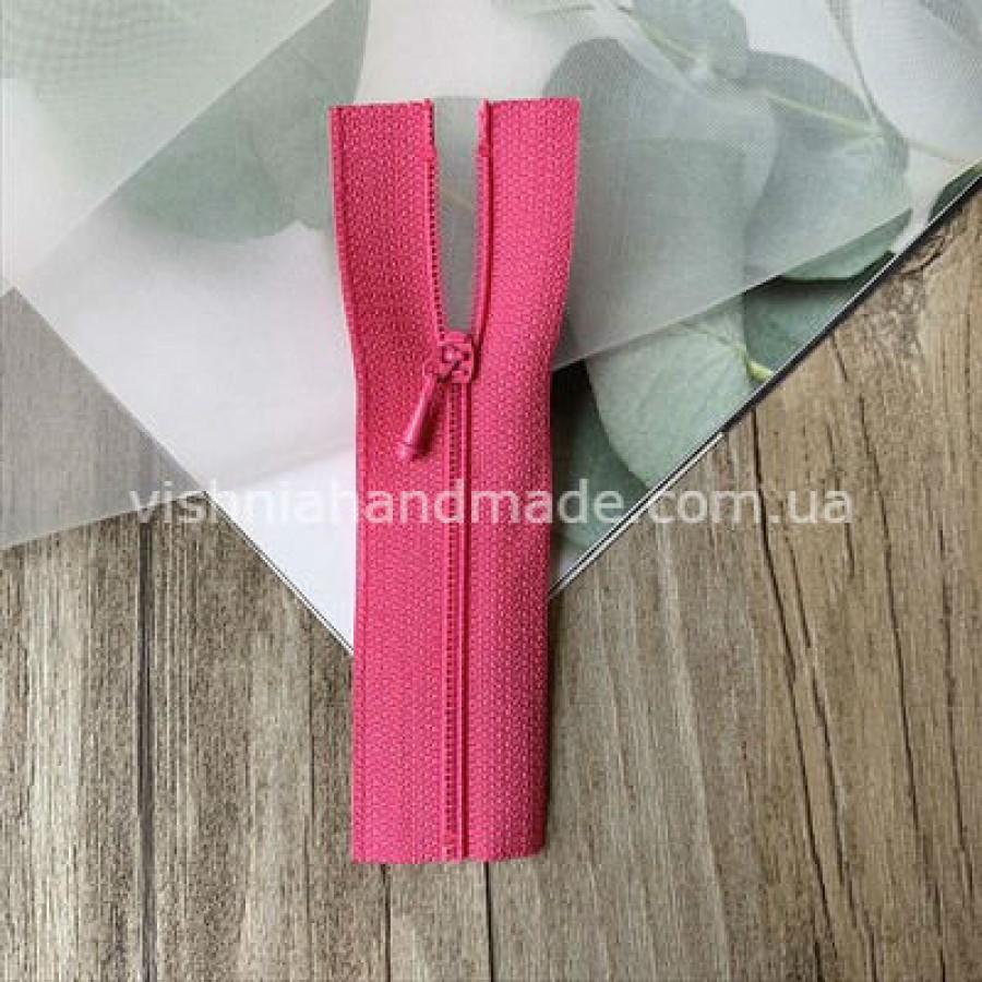 Малиновая не разъемная микро молния для кукольной одежды, 8 см