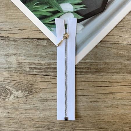 Белая металлическая разъемная микро молния для кукольной одежды, 10 см
