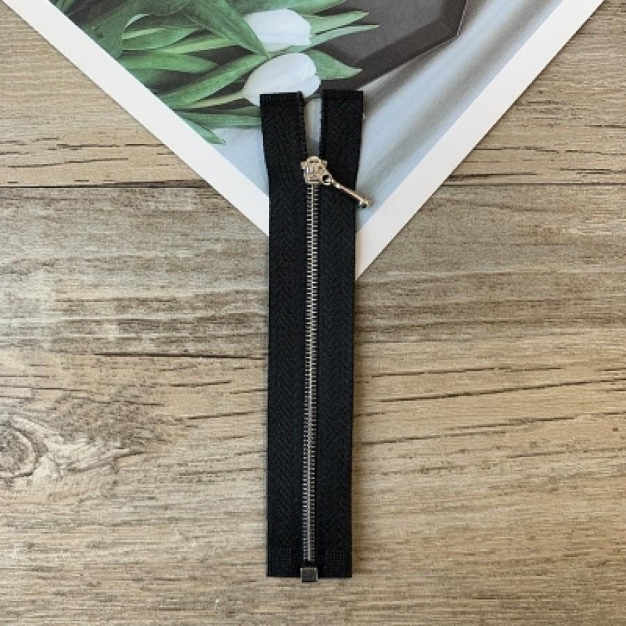 Черная металлическая разъемная микро молния для кукольной одежды, 10 см