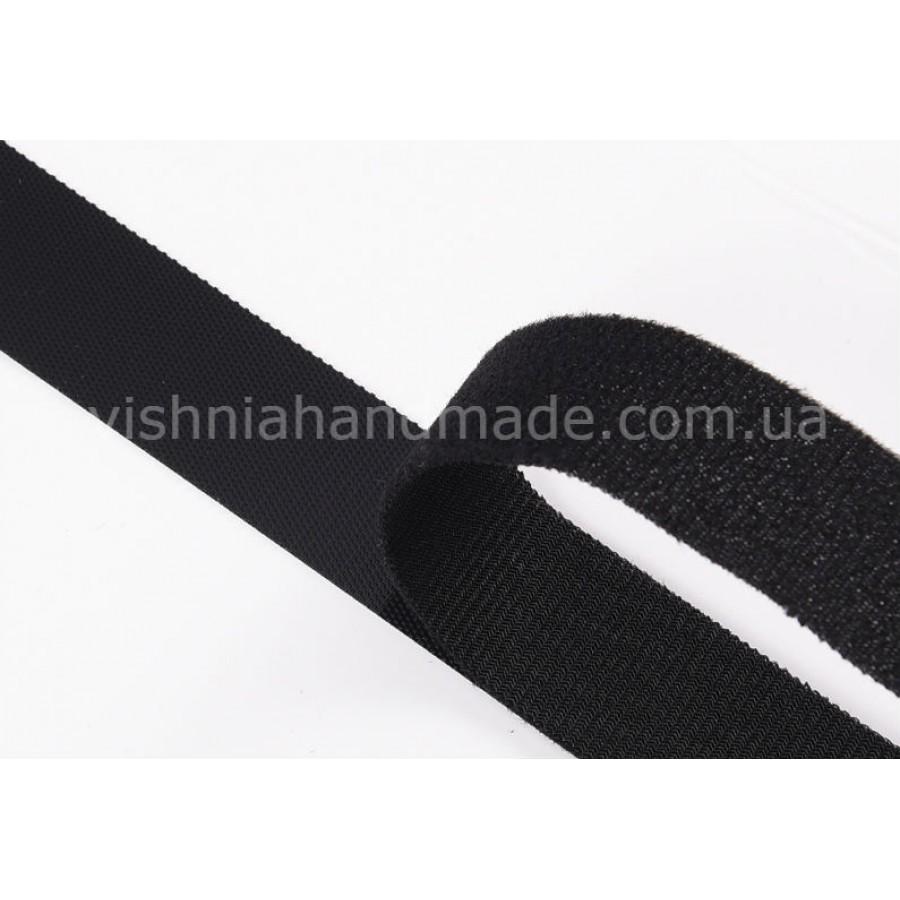 Черная лента-липучка 2 см для кукольной одежды, 10 см