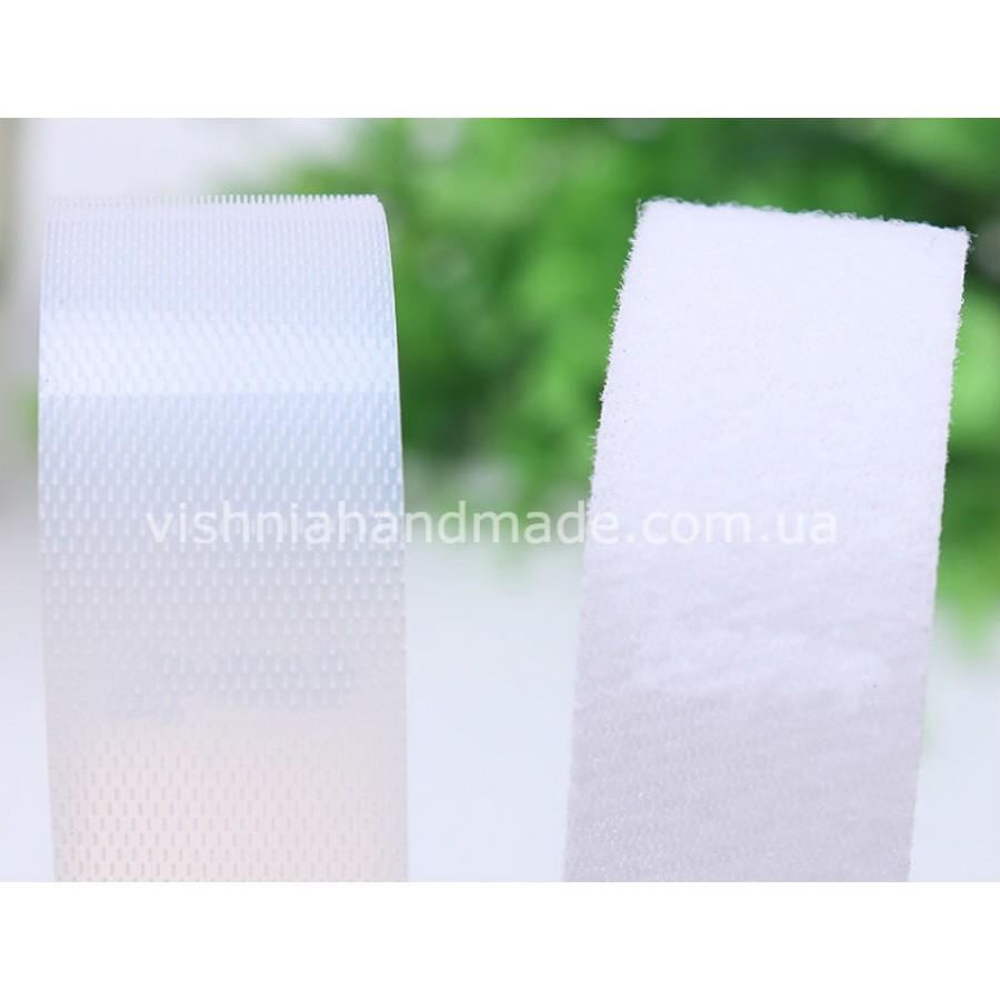 Белая лента-липучка 2 см для кукольной одежды, 10 см