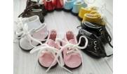 Обувь для кукол. Лаковые туфельки на шнурках 5.5 см (7)