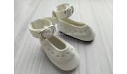 Обувь для кукол. Туфельки с ремешком ажурные 4.5 см (3)