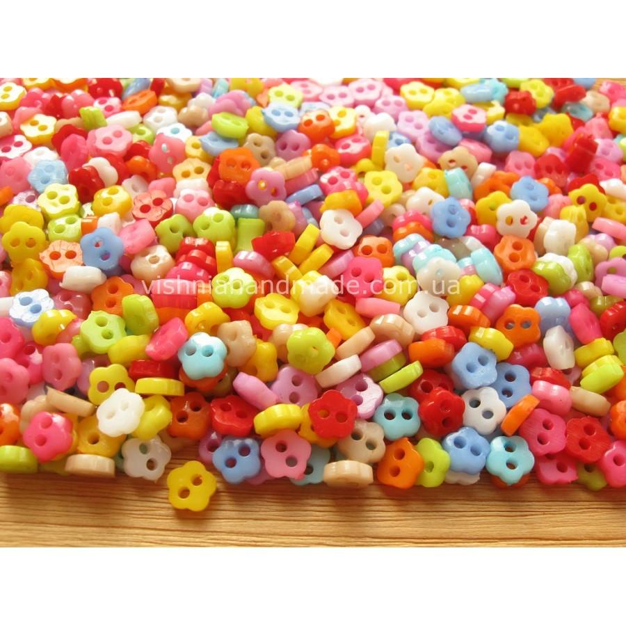Набор пуговиц 6 мм для кукольной одежды «Цветочки», 20 шт