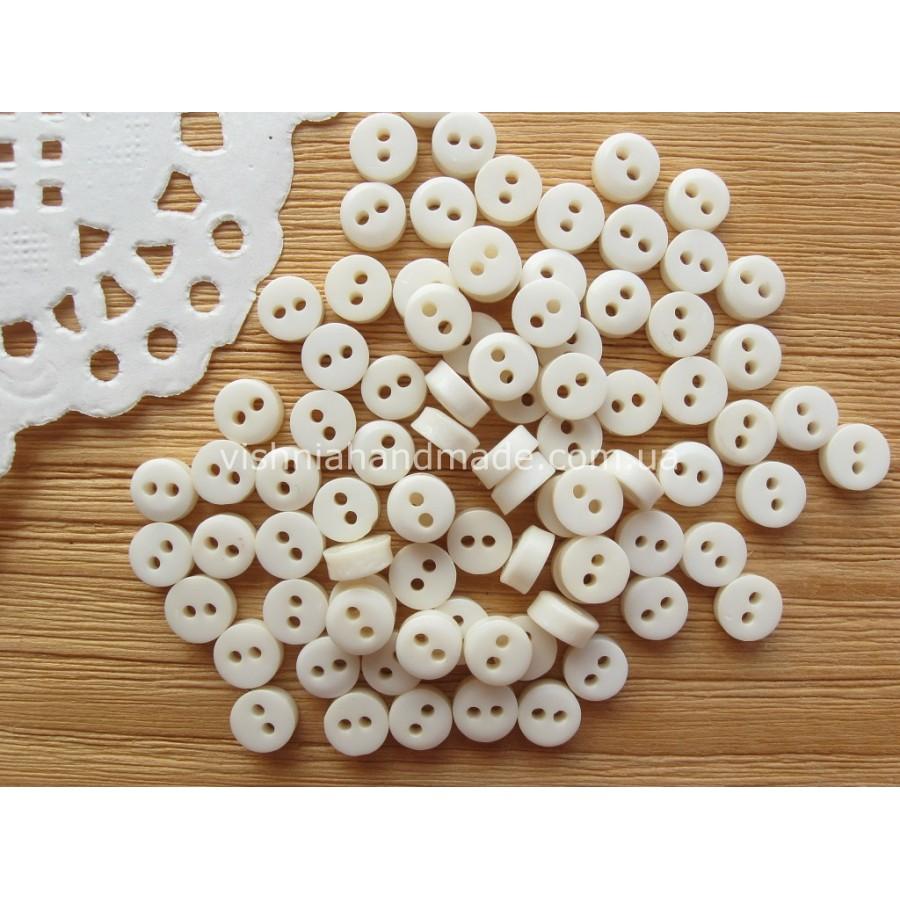 Молочные пуговицы 6 мм для кукольной одежды, 20 шт